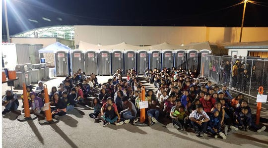 U.S. Border Patrol agents captured more than 670 migrants illegally crossing the border in three separate groups in less than 24 hours.