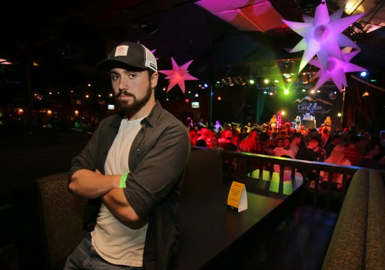 Alex Chatoff, a California Lutheran University student, is one of the regulars at the Borderline Country Night at the Canyon nightclub in Agoura Hills. Chatoff survived the Nov. 7 mass shooting at the Borderline Bar & Grill in Thousand Oaks.