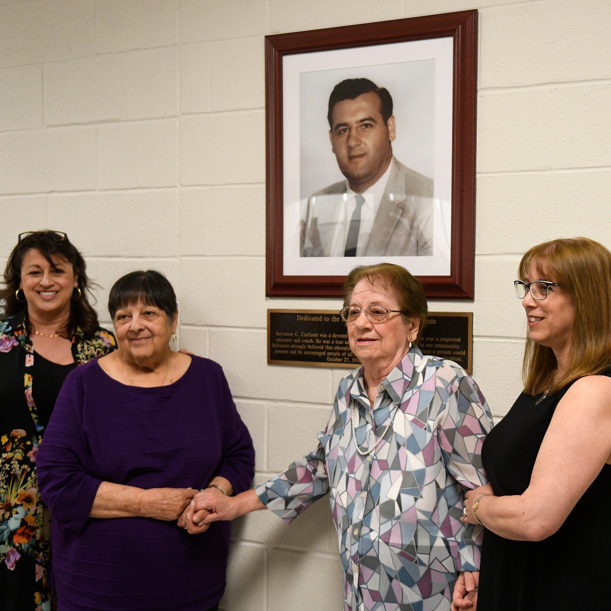 Lerman, Ciarlante honored with dedications at Pilla Middle School