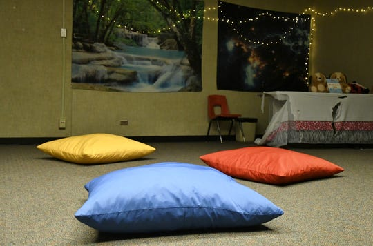 The meditation room at Golden Oak North serves as safe space for students.