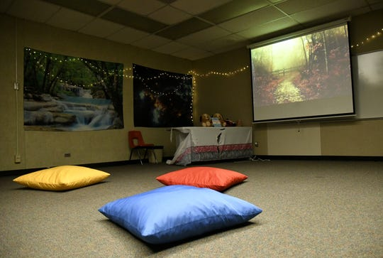 The meditation room at Golden Oak North serves as a safe space for students.