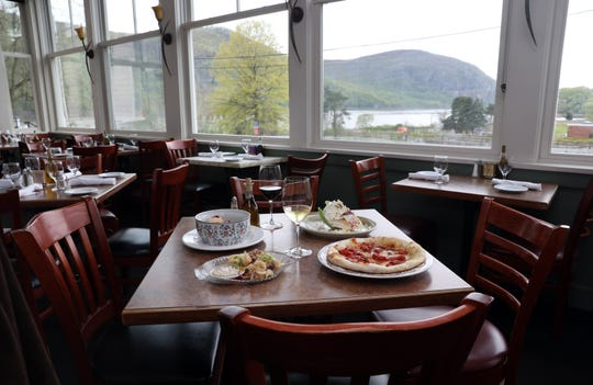 A table set with Hudson River views at the Riverview restaurant in Cold Spring May 2, 2019.