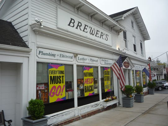 Signs announce the impending closing of Brewer's hardware store at 161 E. Boston Post Road in Mamaroneck, a village institution established in 1879.  The closing date is July 3, 2019. The store is seen May 3, 2019.