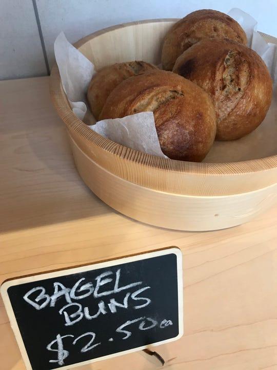 Bagel buns at 123 Dough in Pound Ridge.