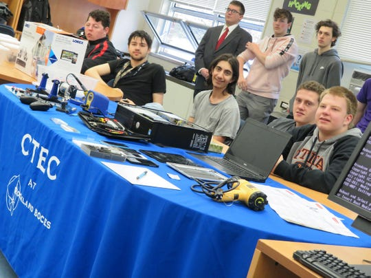 Rockland BOCES CTECH 1st and 2nd year students in their classroom on May 1, 2018.