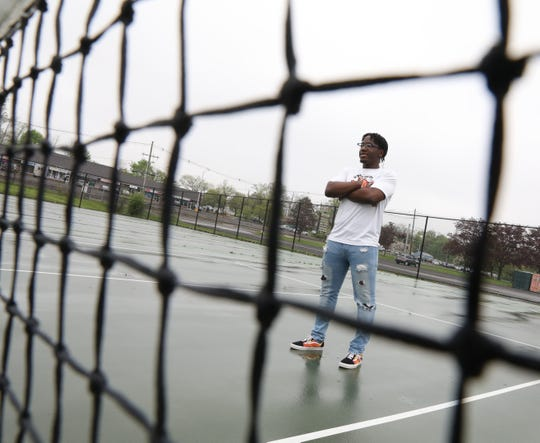 Rockland Scholar-Athlete of the Week Hanson Drysdale who is a tennis player was photographed at Spring Valley High School on May 3, 2019.