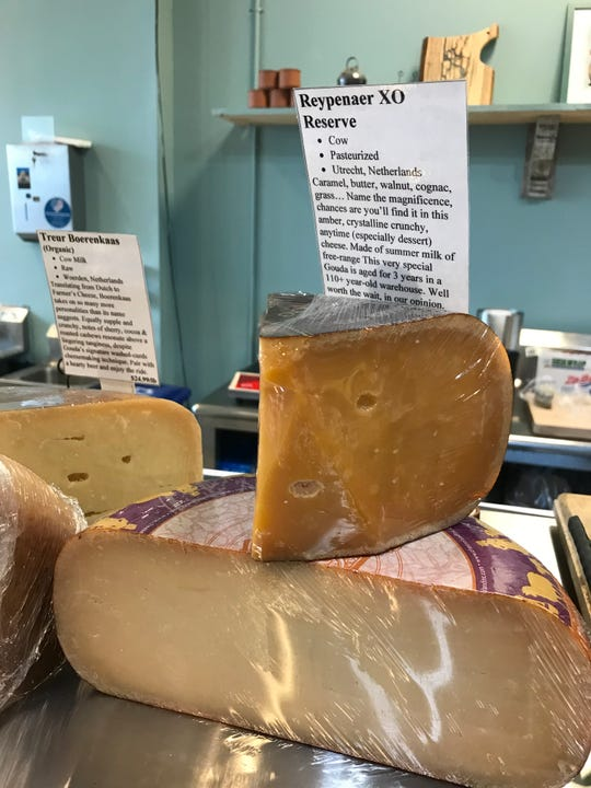 Cheeses at Second Mouse Cheese Shop in Pleasantville.