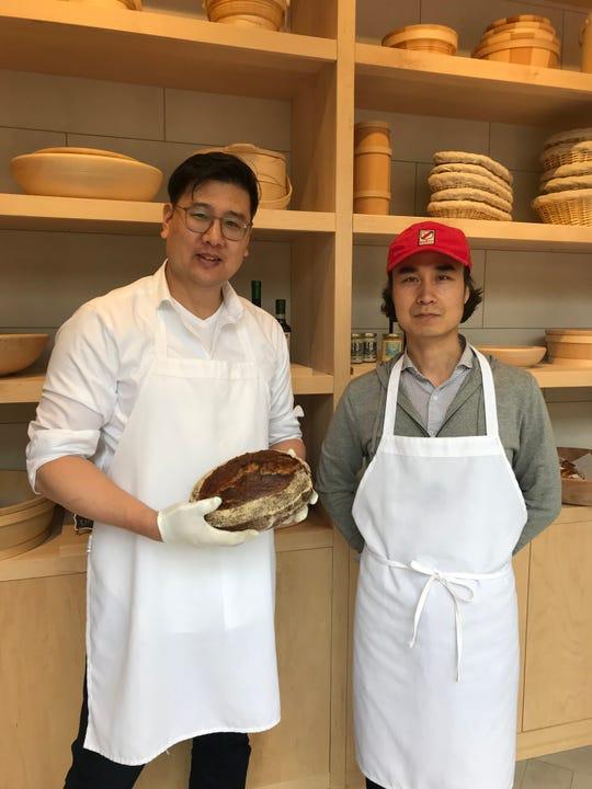 Bakery Supervisor Glenn Shin and Master Baker Louis Kim of 123 Dough in Pound Ridge.