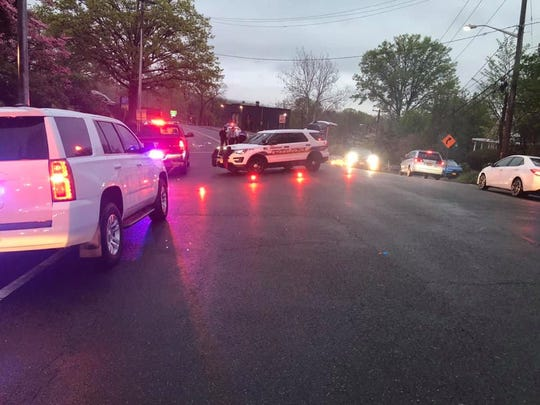 Route 9W in Piermont was closed after a woman was hit by a car while crossing the street on May 2, 2019.