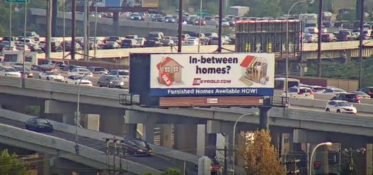 Traffic cameras show heavy traffic near the Frawley Stadium after an I-95 southbound accident on Friday evening.