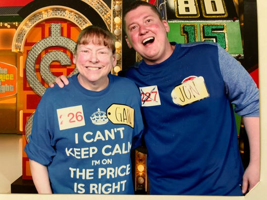 "Gail Rice of Wisconsin Rapids and her son, Jon, attend a taping of ""The Price is Right"" in March. Gail will appear as a contestant on the CBS game show at 10 a.m. Monday, May 6, 2019."