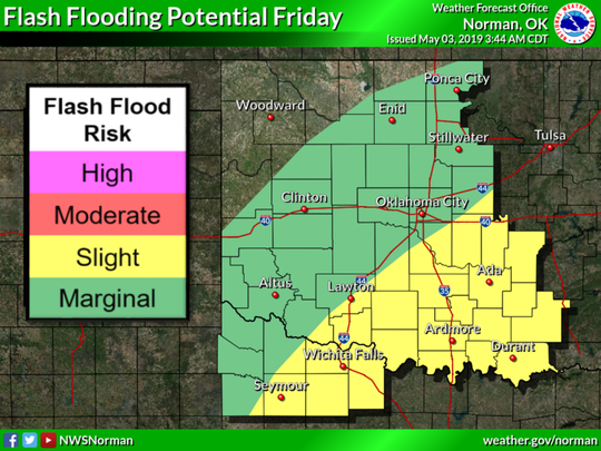 Flash flooding potential Friday