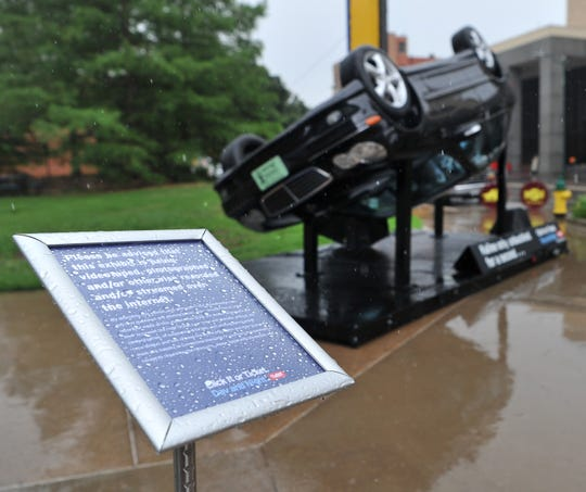 Heavy rain moved through the downtown Wichita Falls area canceling the Texas Department of Transportation's annual Click It or Ticket safety belt awareness campaign kick-off, scheduled to be held Friday morning.