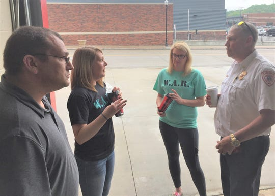 We Are Recovery members Kyle Landon, Tegan Drake and Heaven Smitley talk to ZFD Assistant Chief Doug Hobson about their road to recovery.