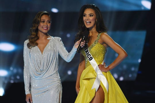 Miss New Mexico, Alejandra Gonzalez answers a question during Miss USA 2019.
