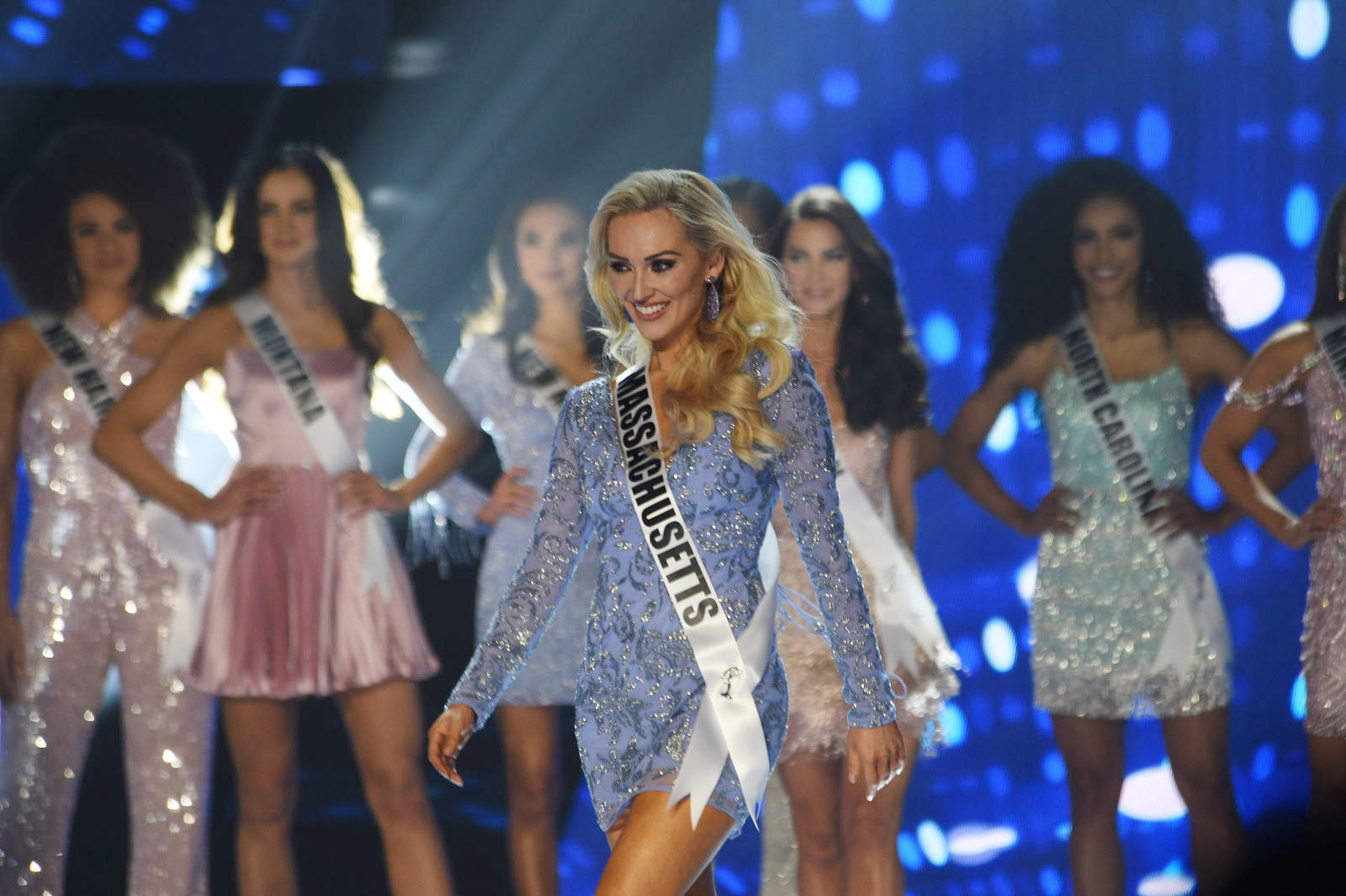 Miss Massachusetts Kelly O'Grady competes in Miss USA 2019.