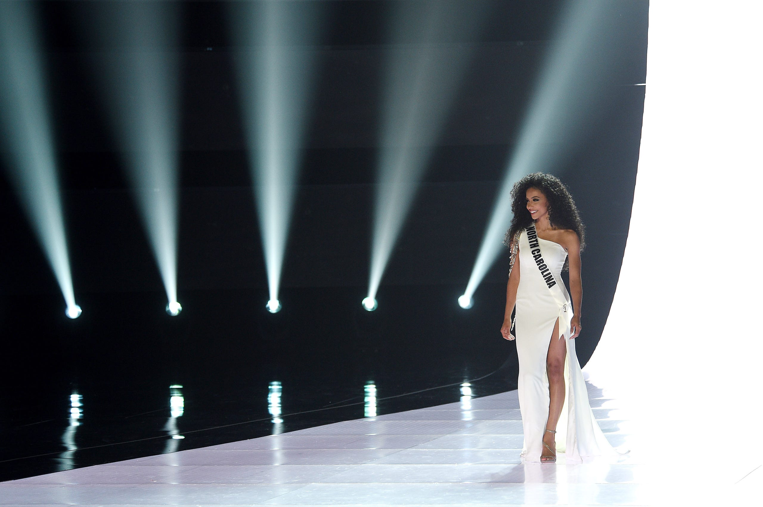 Miss North Carolina Chelsie Kryst competes during Miss USA 2019.