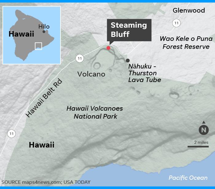 Man survives fall into Hawaii's Kilauea volcano after