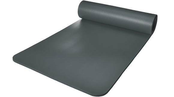 Try out mountain pose on an affordable yoga mat.
