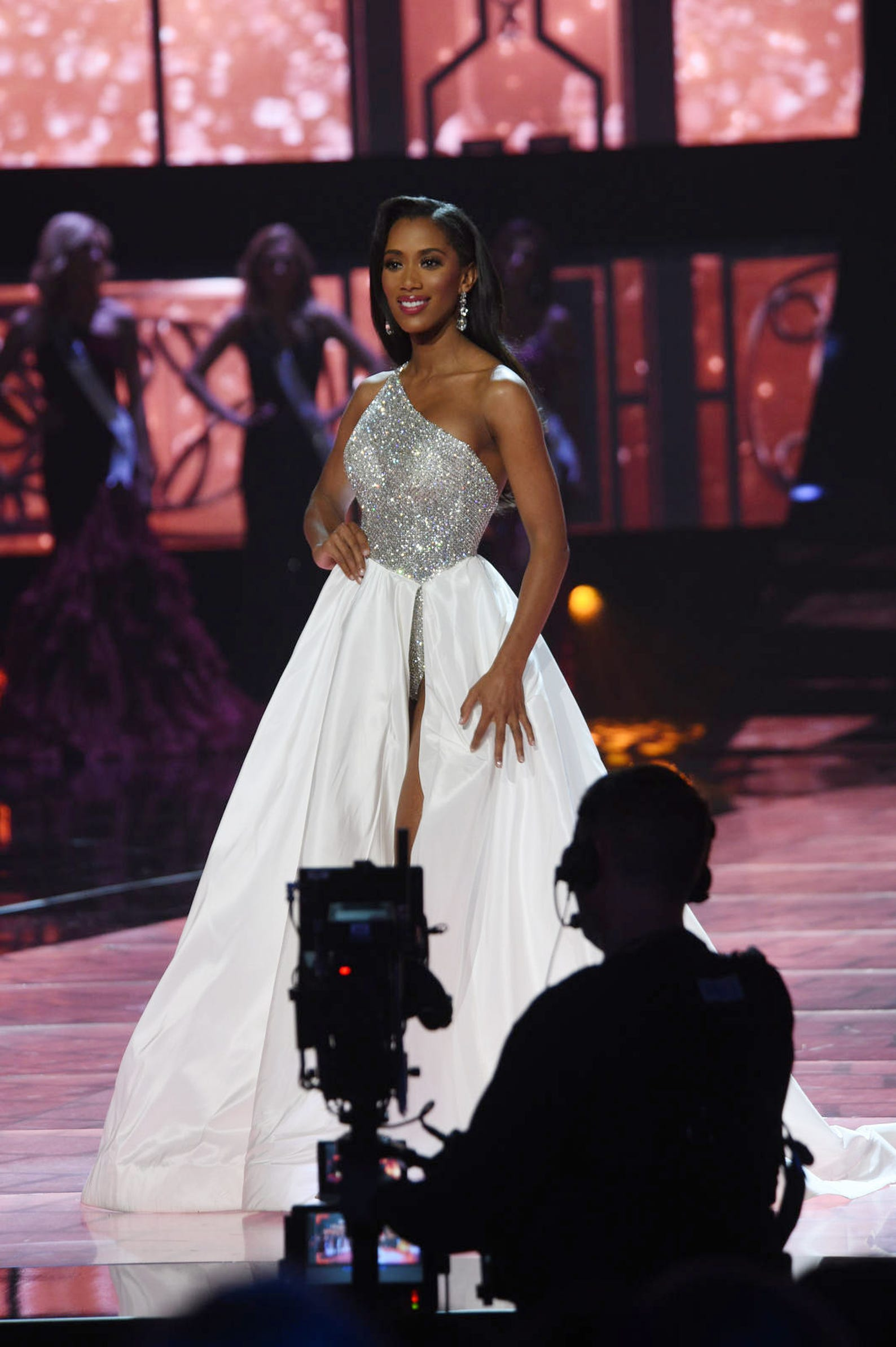 Miss Nevada Tianna Tuamoheloa competes during Miss USA 2019.