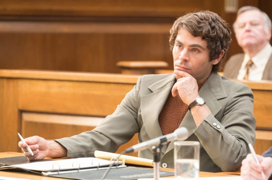 "Zac Efron as Ted Bundy in ""Extremely Evil."""