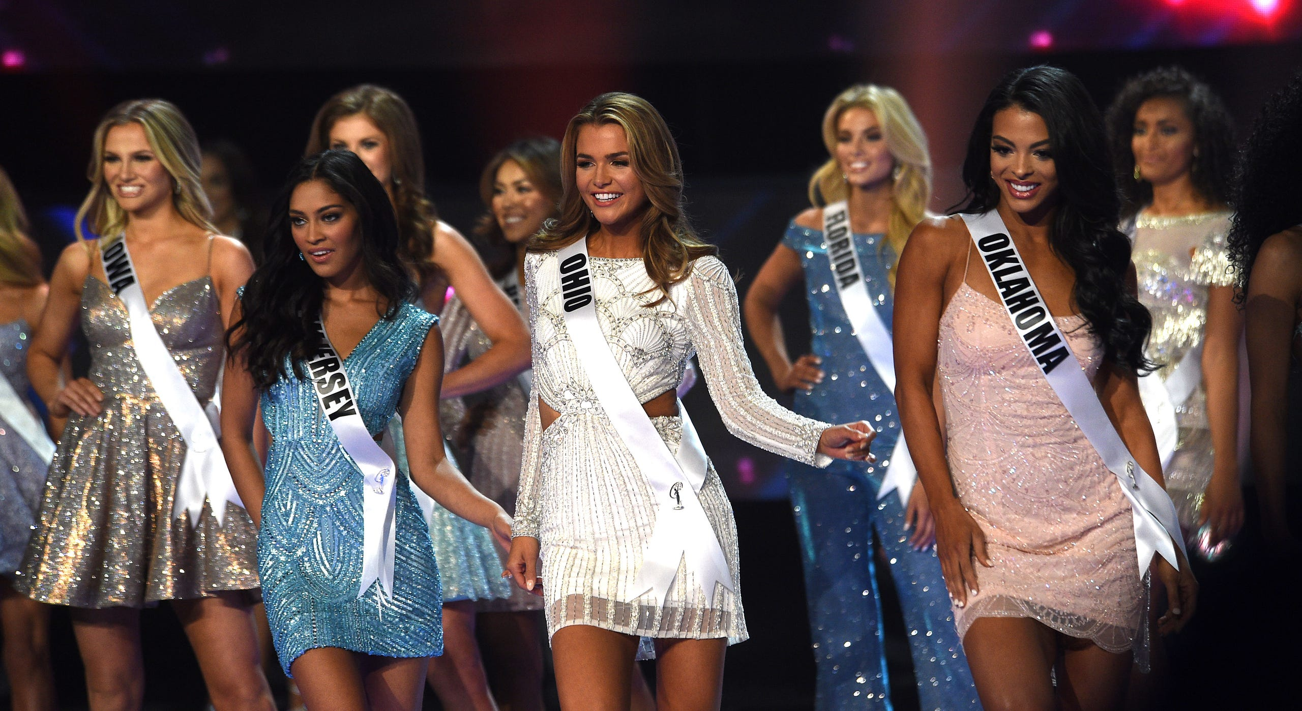 Contestants compete during Miss USA 2019.