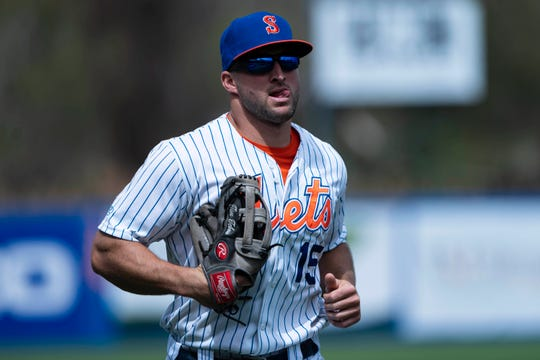Apr. 25: Tim Tebow began the 2019 season in Class AAA Syracuse.