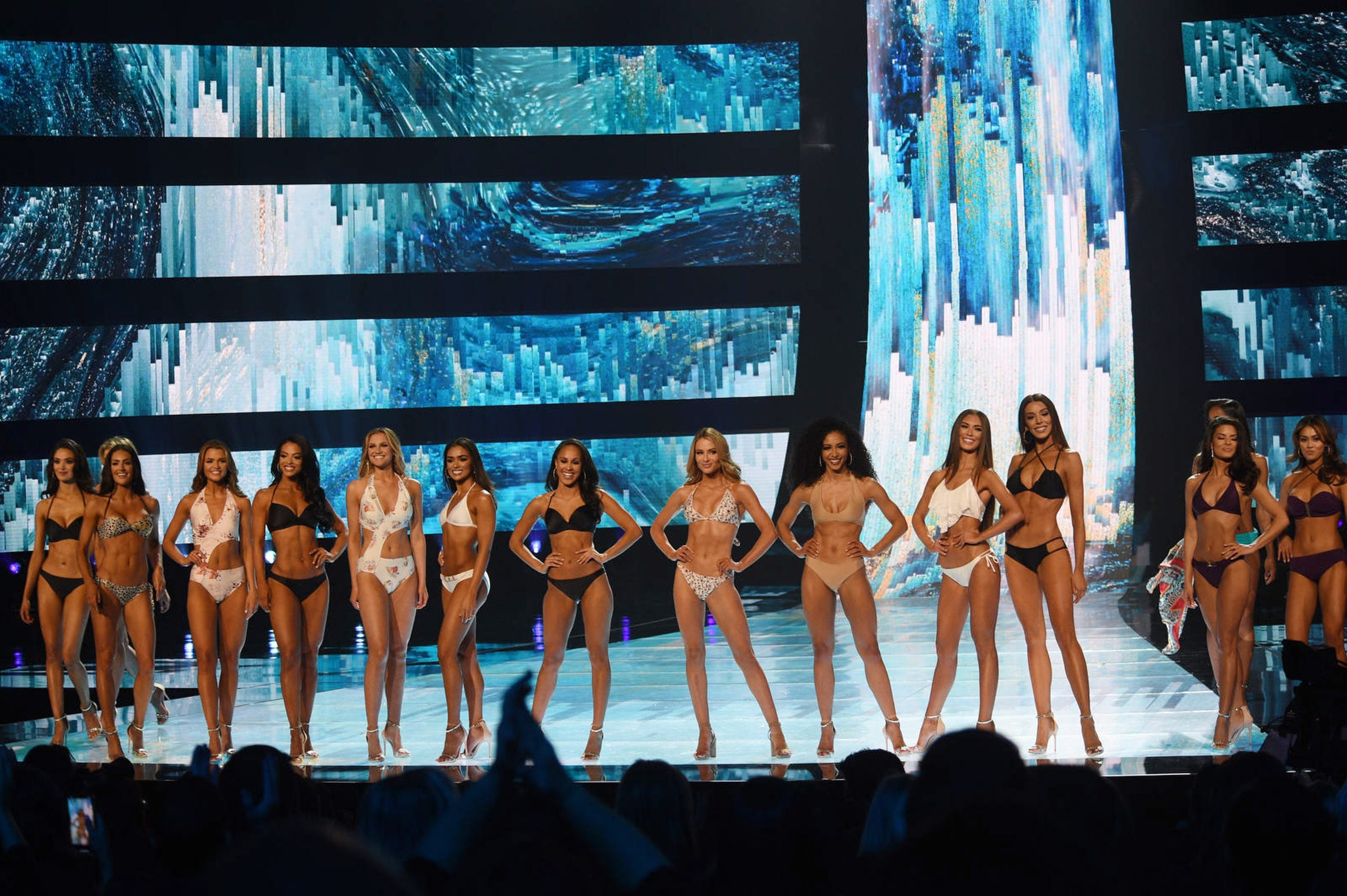 Contestants compete in Miss USA 2019.