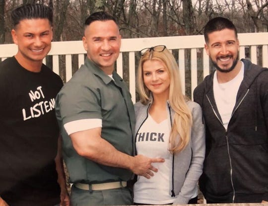 "Pauly ""DJ Pauly D"" DelVecchio, Michael ""The Situation"" Sorrenton, Lauren Sorrentino and Vinny Guadagnino April 19 at FCI Otisville."