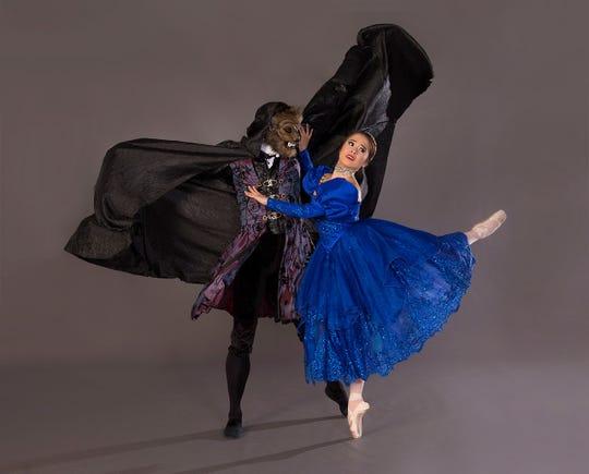 "Journy Wilkes-Davis and Nanako Yamamoto star in American Repertory Ballet's ""Beauty and the Beast."""