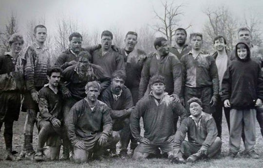 The Battle Creek Griffons following the 1997 Mud Bowl in Motown Michigan Cup Tournament.
