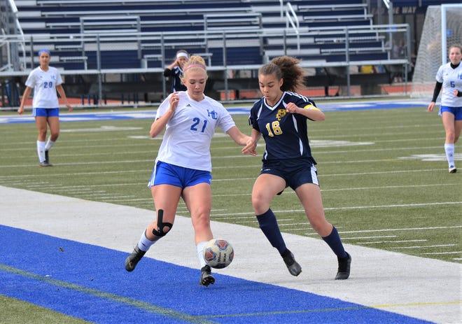 Harper Creek's Lauren LaFleur, left, was set to have a big senior season for the Beavers girls soccer team.