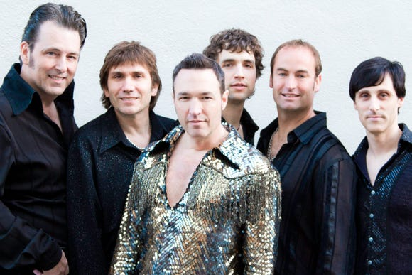 """Randy Cordeiro (middle) is """"Surreal Neil"""" in Super Diamond, which also includes (from left) Matt Tidmarsh, Vince Littleton, Chris Collins, Rama Kolesnikow and James Terris."""