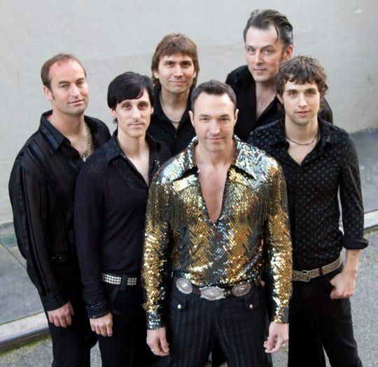 Super Diamond — from left, Rama Kolesnikow, James Terris, Vince Littleton, Randy Cordeiro, Matt Tidmarsh and Chris Collins — play their Neil Diamond tribute May 10 at the Admiral Theatre.