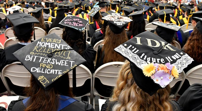 Florida Tech held three spring commencement ceremonies on Saturday, May 4, in the Charles and Ruth Clemente Center. In total, the University bestowed 1,276 degrees.