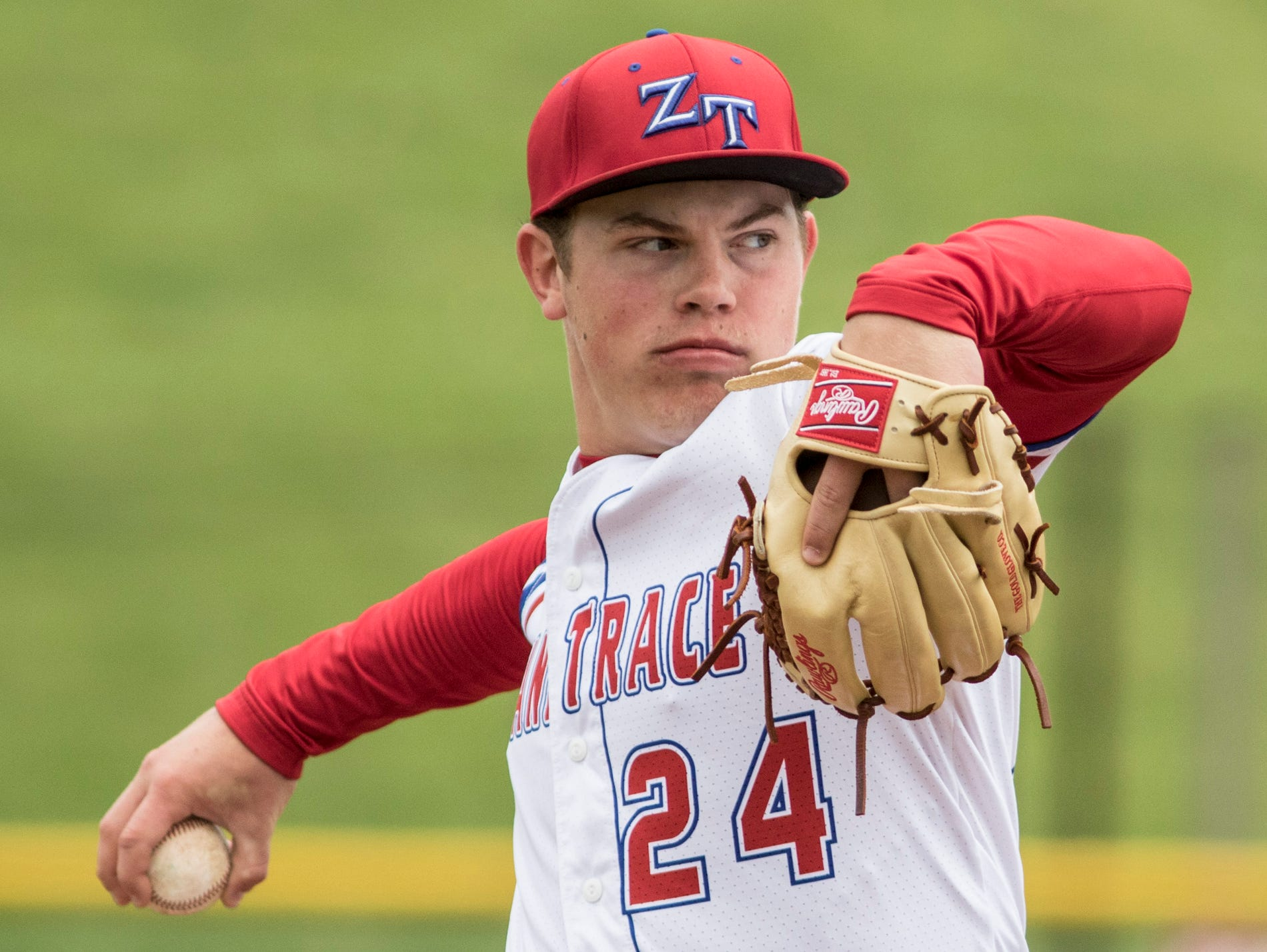 Chad Ison pitches against Chesapeake High during a game earlier in the season.