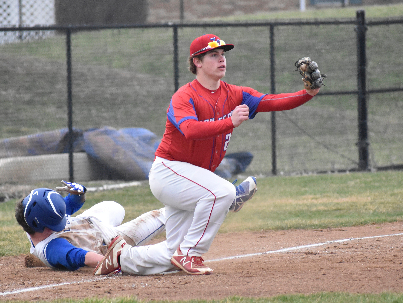 Zane Trace senior Chad Ison brings a bulldog mentality to the Pioneers baseball program.