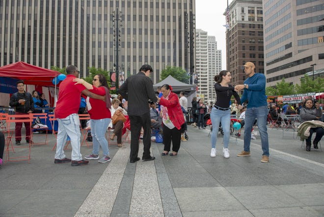 Put on your dancing shoes because Salsa on the Square returns to Fountain Square for one weekend only.