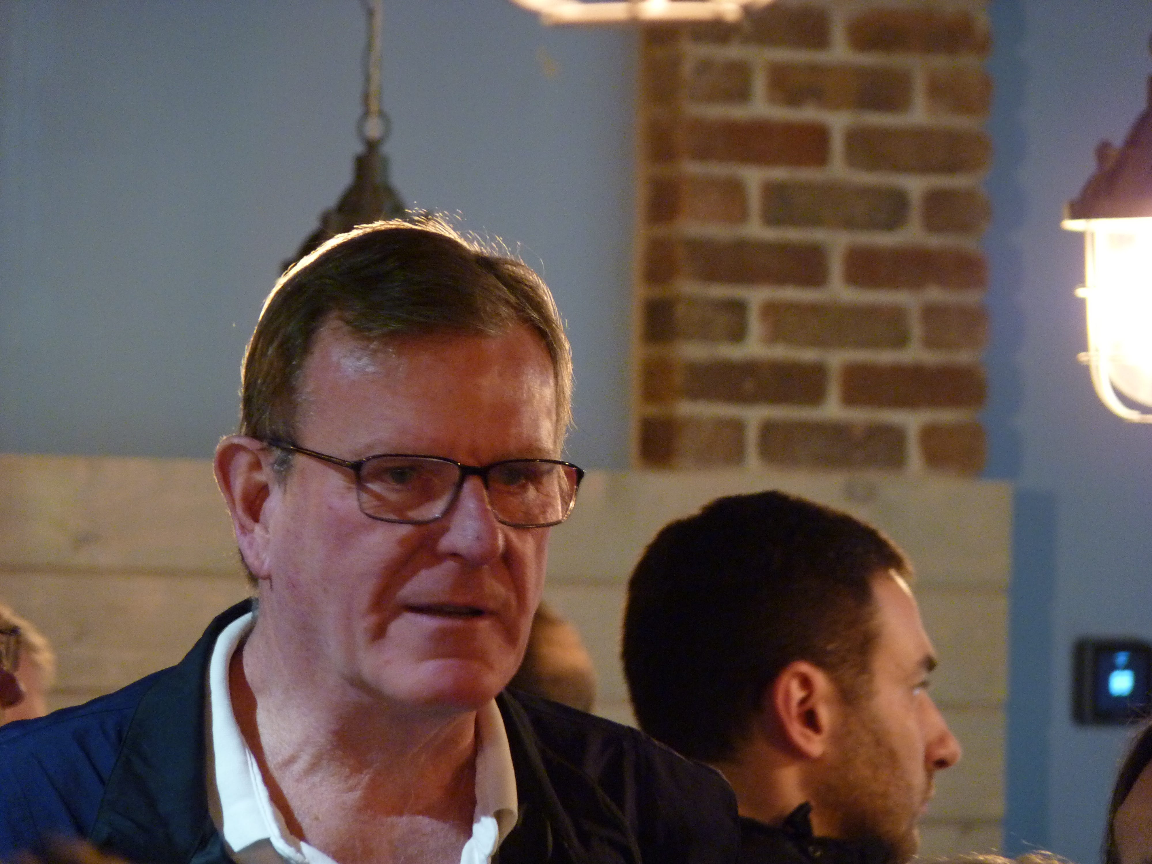 Michael Kerwin, president and CEO of Somerset County Business Partnership, at  Jersey Cyclone Brewing Company, which officially opened its doors on Saturday, May 4 at 14 Worlds Fair Dr. in Somerset.