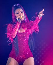 Cardi B performs at Wells Fargo Arena in Des Moines Friday, May 3, 2019.