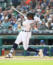 Niko Goodrum, who has hit .240 hitting fourth this season, was moved up to the leadoff spot before Friday's game against Minnesota.