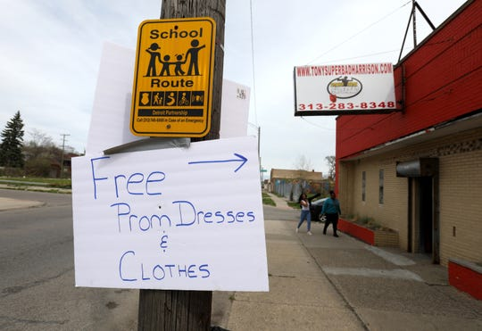 Superbad Boxing Gym held its first annual Prom Dress Giveaway at Superbad Boxing Gym in Detroit on Saturday, May 4, 2019.Over 90 new and gently used dresses where on display for girls to pick out to wear to their proms and high school graduations.