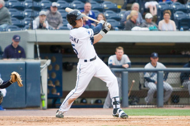 Ulrich Bojarski, an outfielder from Australia, leads Single-A West Michigan with three home runs.