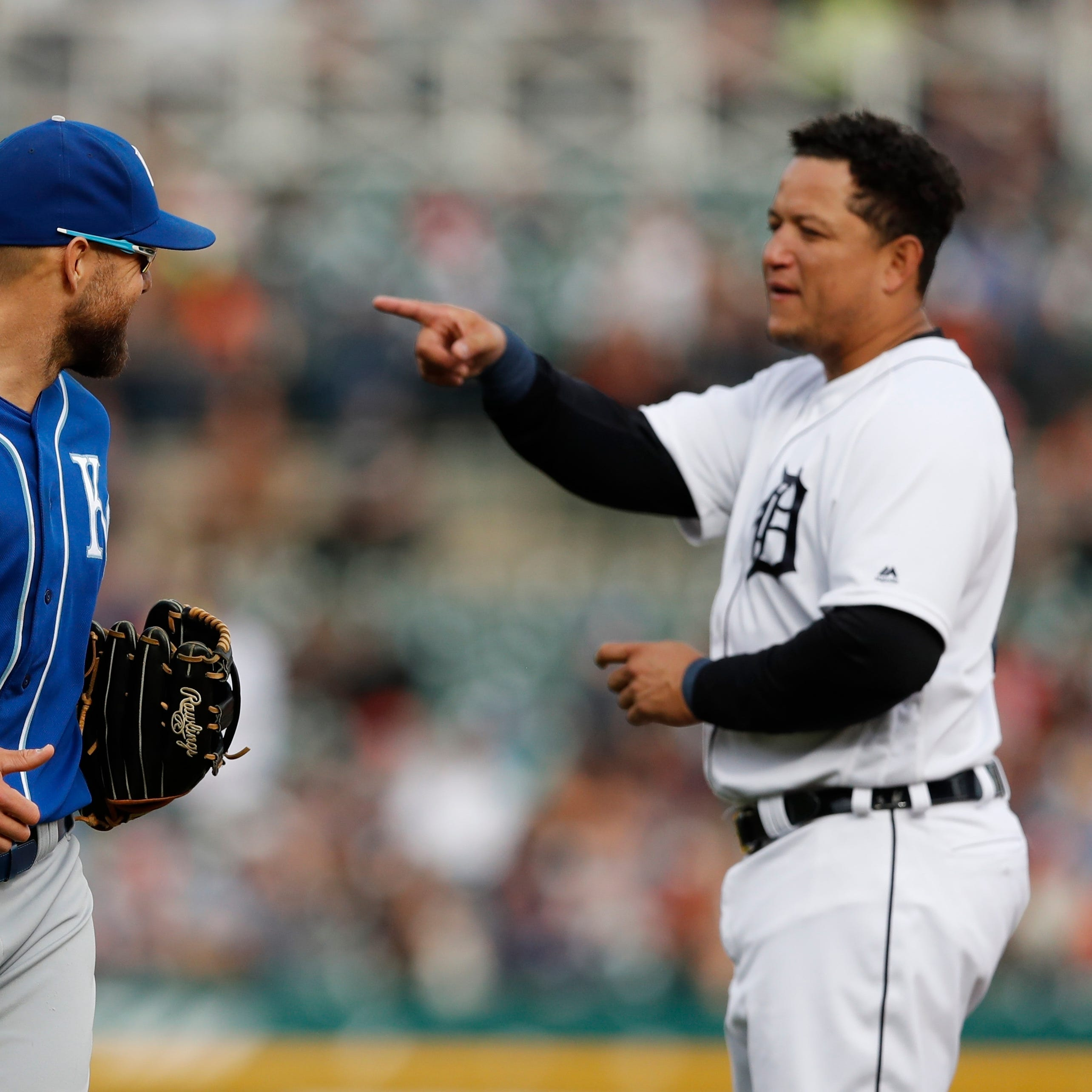 Crying shame: Tigers pitchers walk 10 and take a Royal beating, 15-3