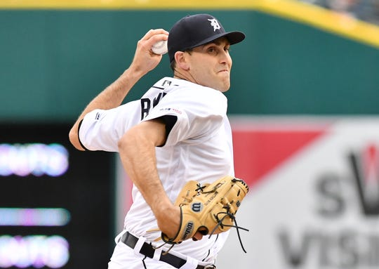 Tigers pitcher Matthew Boyd struck out nine over seven innings to earn his third win of the season on Friday.