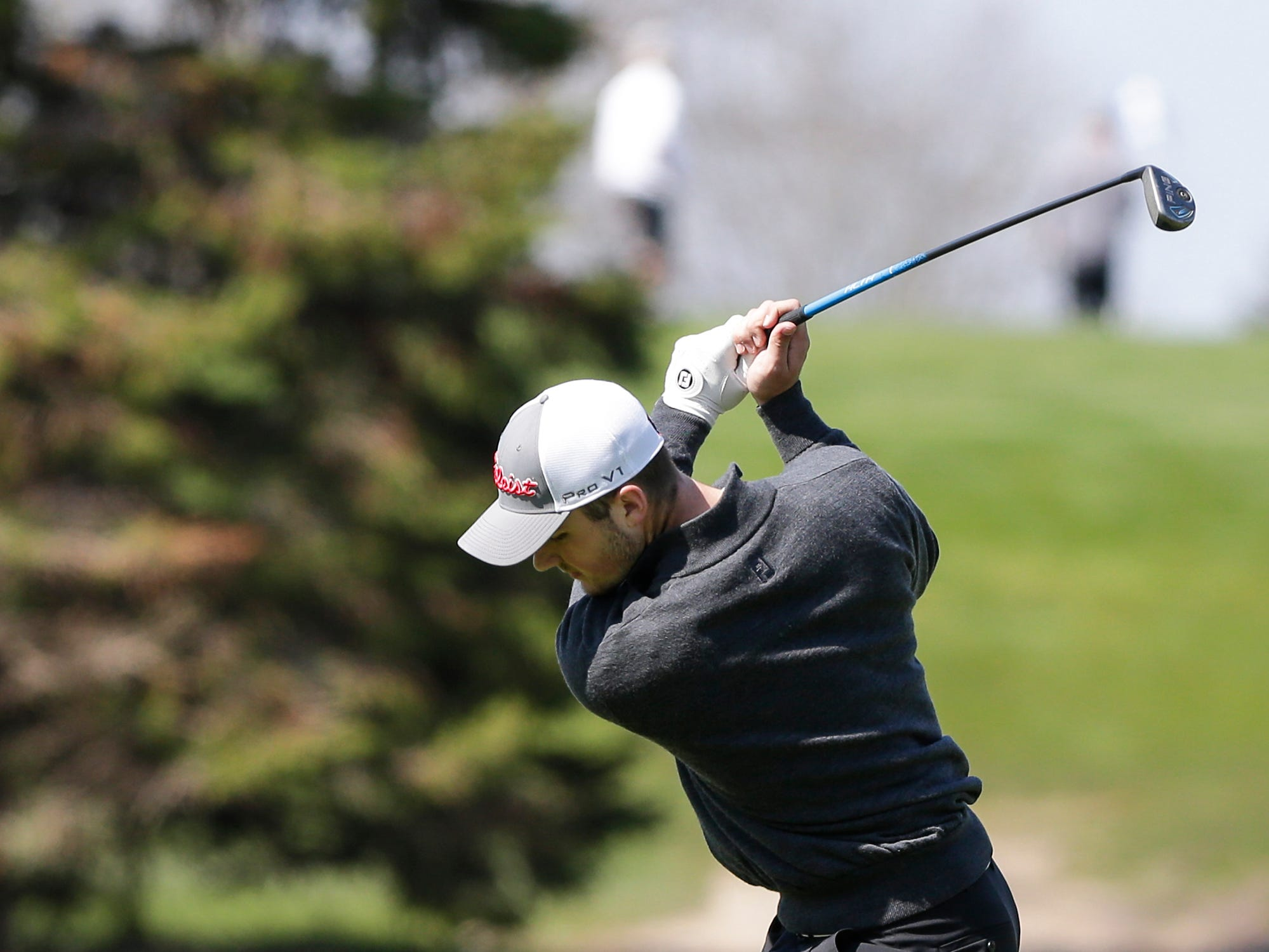 Bryce Holz of Fond du Lac High School competes in the Fond du Lac High School golf invite Saturday, May 4, 2019 at Rolling Meadows Golf Course in Fond du Lac, Wis. Doug Raflik/USA TODAY NETWORK-Wisconsin