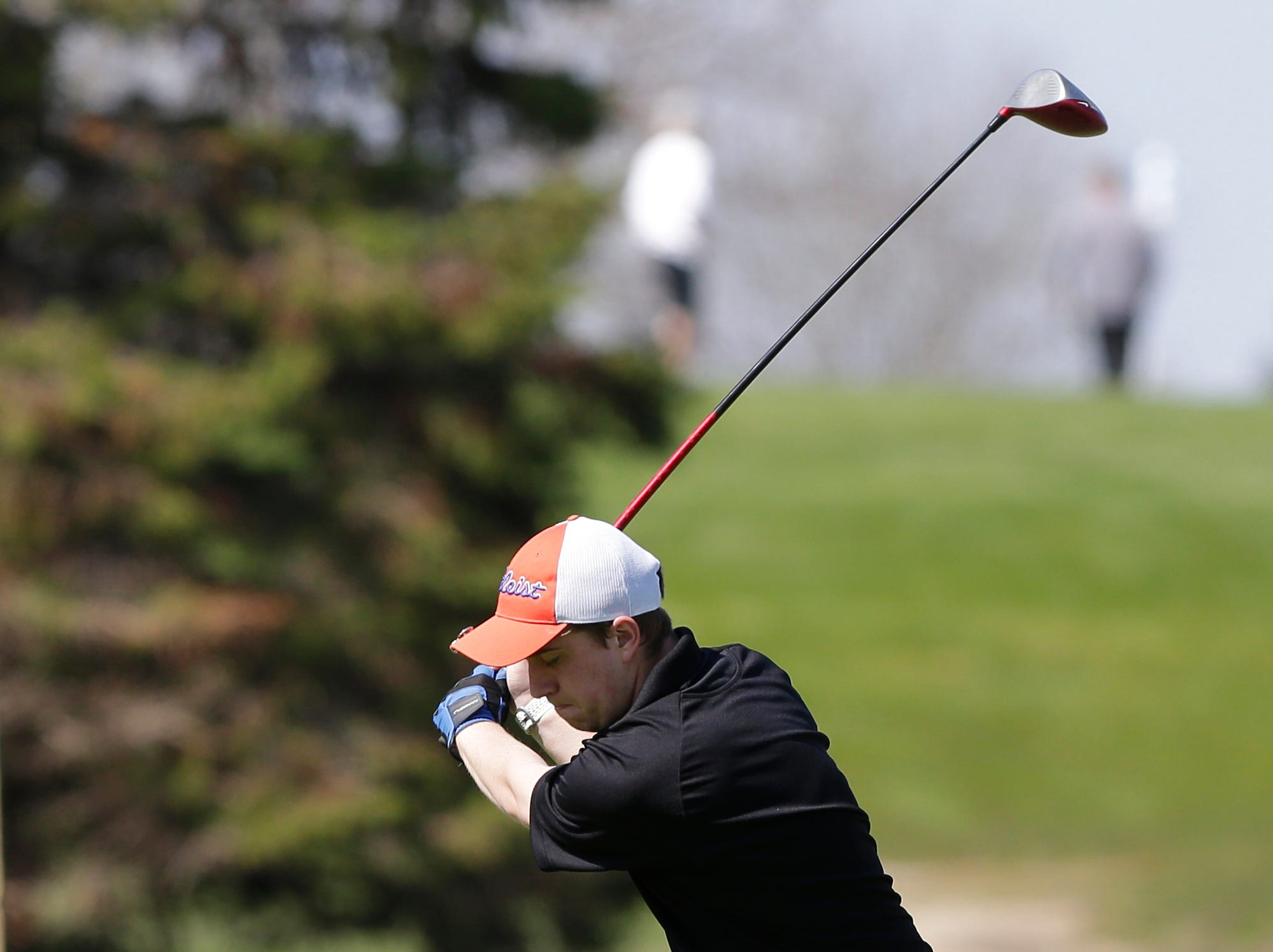 Jack Porter of Appleton West High School competes in the Fond du Lac High School golf invite Saturday, May 4, 2019 at Rolling Meadows Golf Course in Fond du Lac, Wis. Doug Raflik/USA TODAY NETWORK-Wisconsin