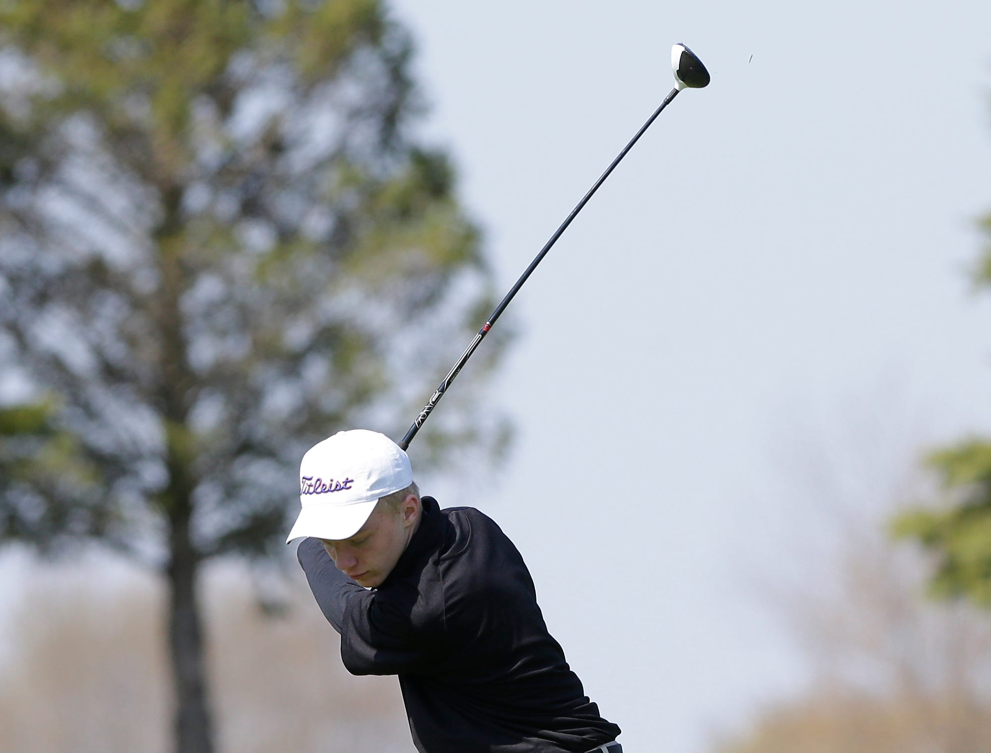 Jack Blair of Appleton West High School competes in the Fond du Lac High School golf invite Saturday, May 4, 2019 at Rolling Meadows Golf Course in Fond du Lac, Wis. Doug Raflik/USA TODAY NETWORK-Wisconsin