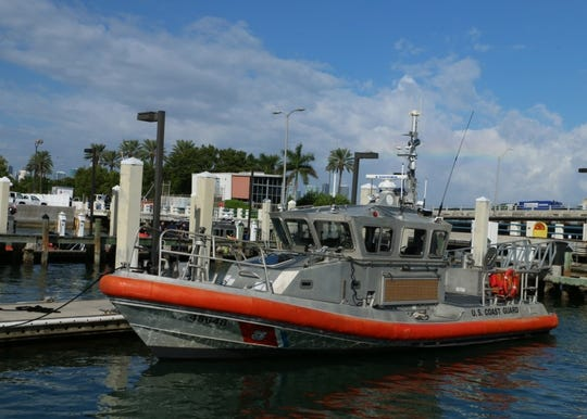 The Coast Guard's Fort Myers station sent a response boat crew to assist in rescuing seven people after their boat took on water Saturday, May 4, 2019 near Pine Island.