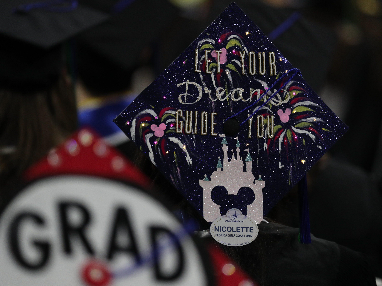 Students graduate from Florida Gulf Coast University on Saturday morning, May 4, 2019, at Alico Arena.